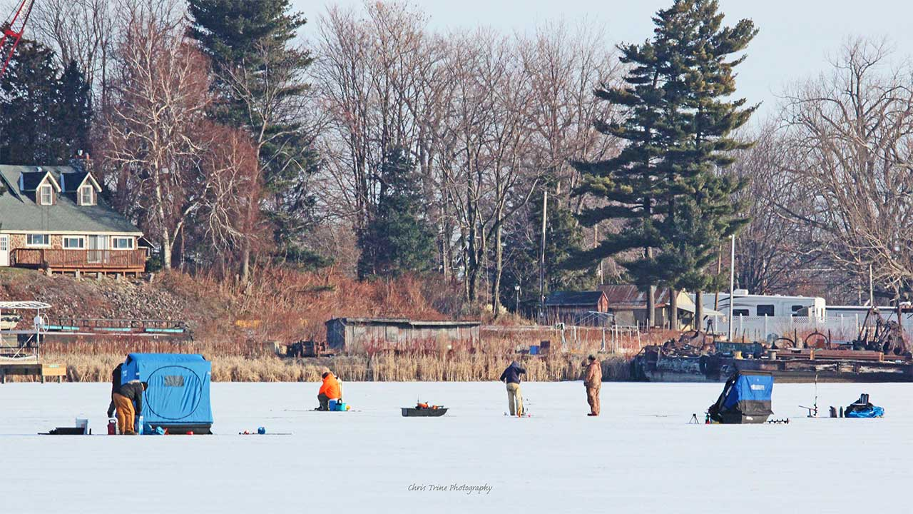 Saturday on the ice at Sodus Point (photo)