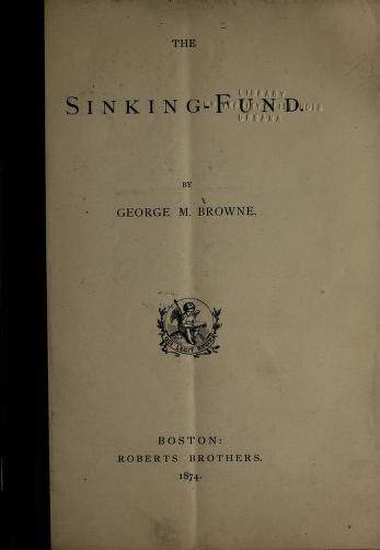 The sinking-fund by George Morgan Browne